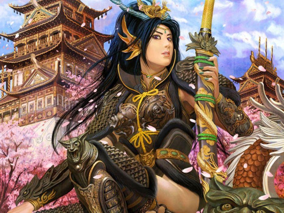 women fantasy art mythical wallpaper