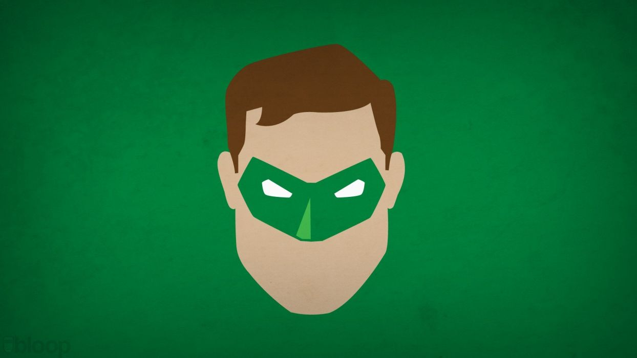 Green Lantern minimalistic superheroes green background blo0p wallpaper