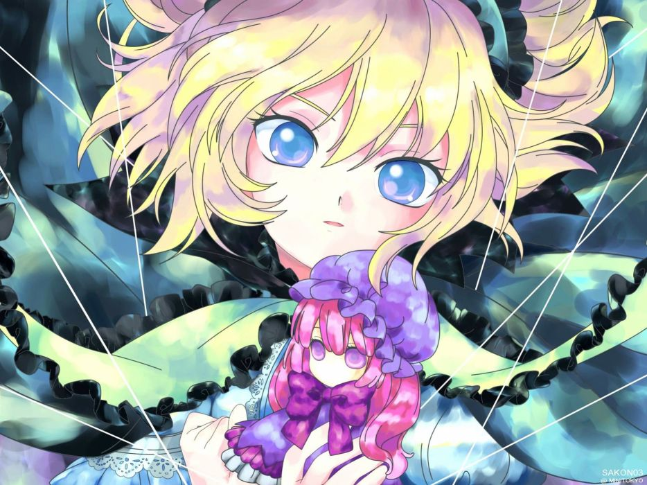 blondes video games Touhou blue eyes Alice Margatroid anime girls wallpaper
