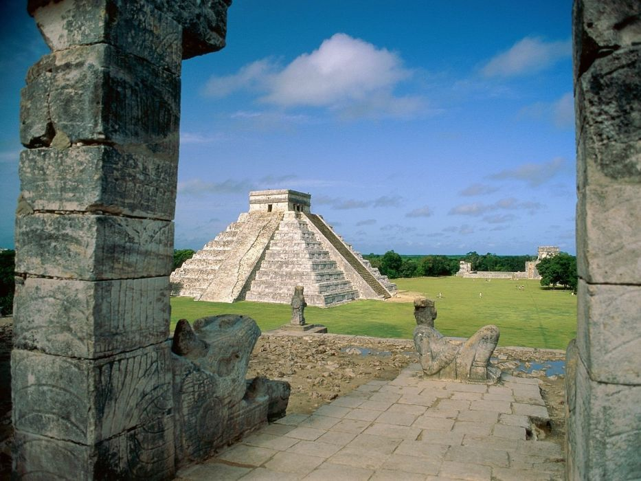 landscapes architecture Mexico ancient HDR photography pyramids wallpaper