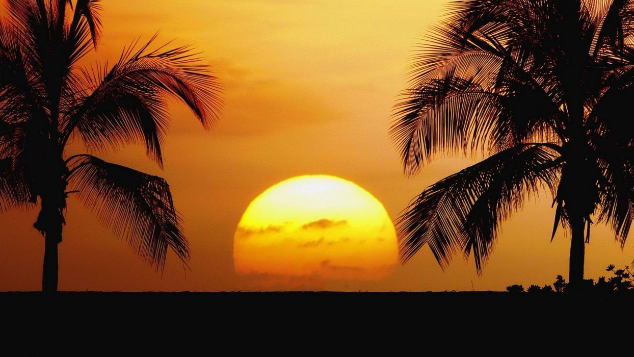 sunset old Hawaii airports parks beaches wallpaper