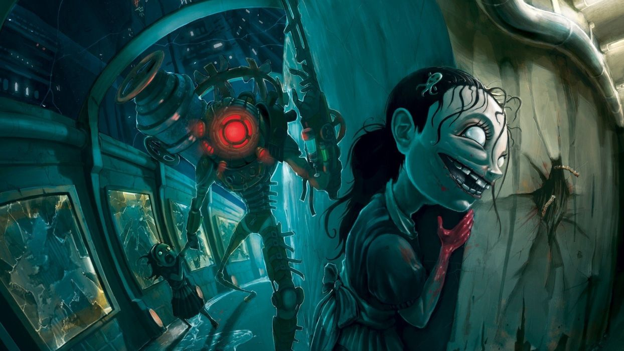 video games fantasy art BioShock 2 wallpaper