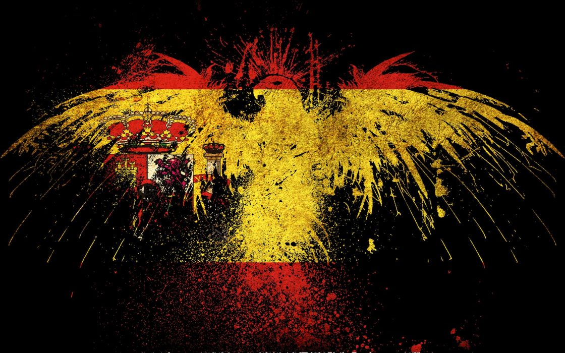 grunge eagles flags Spain wallpaper