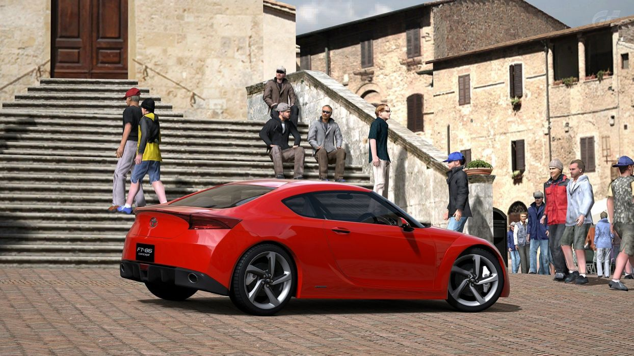 video games cars Gran Turismo 5 Playstation 3 Toyota FT-86 wallpaper