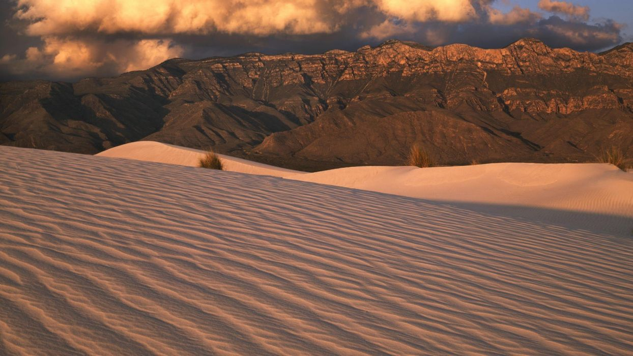 mountains landscapes Texas sand dunes National Park wallpaper