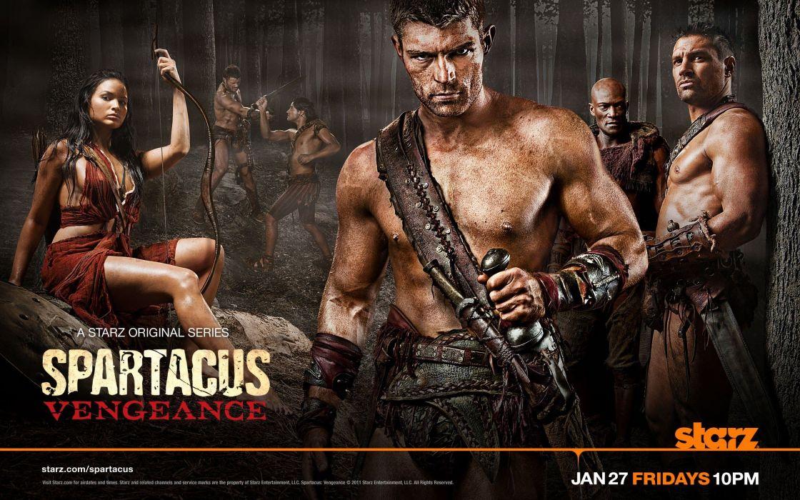 rebels Katrina Law Peter Mensah Spartacus Vengeance Liam McIntyre wallpaper