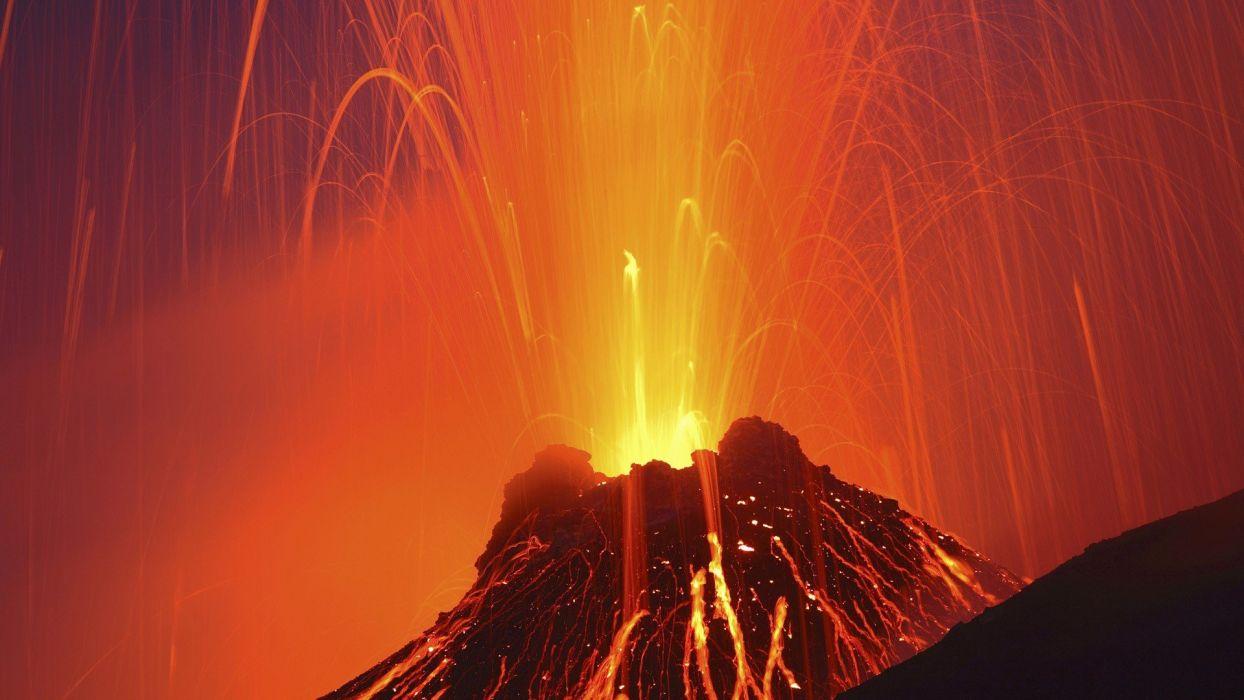 volcanoes Italy wallpaper