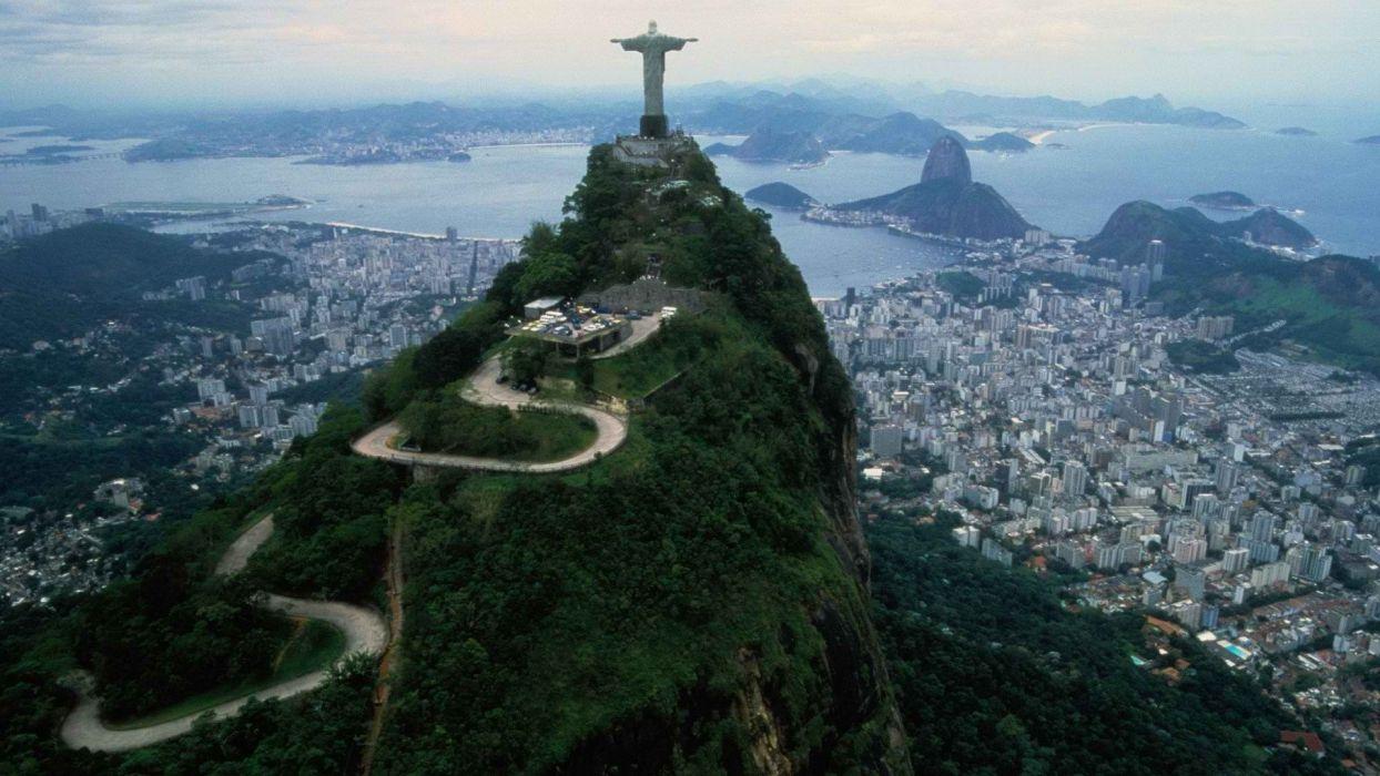 Brazil Rio De Janeiro Cristo Redentor Christ the Redeemer wallpaper