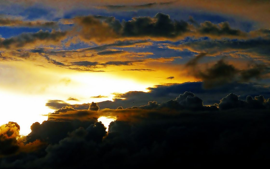sunset clouds nature storm sunlight skies wallpaper