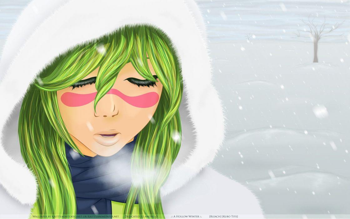 winter snow Bleach Espada Nelliel Tu Odelschwanck wallpaper