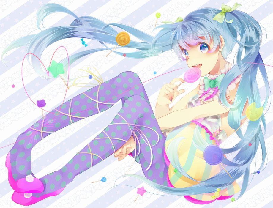 vocaloid hatsune miku ichika (krone1) lollipop vocaloid wallpaper