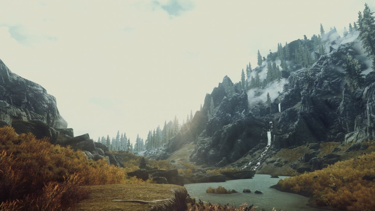Video Games Nature Screenshots The Elder Scrolls V Skyrim Wallpaper