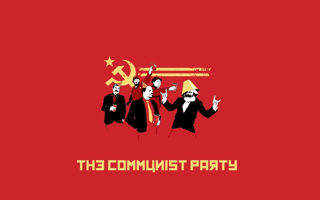 Communist party hammer and sickle wallpaper