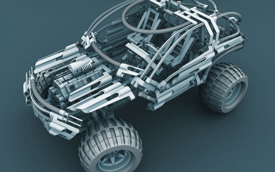 machine Jeep simple background Legos projection wallpaper