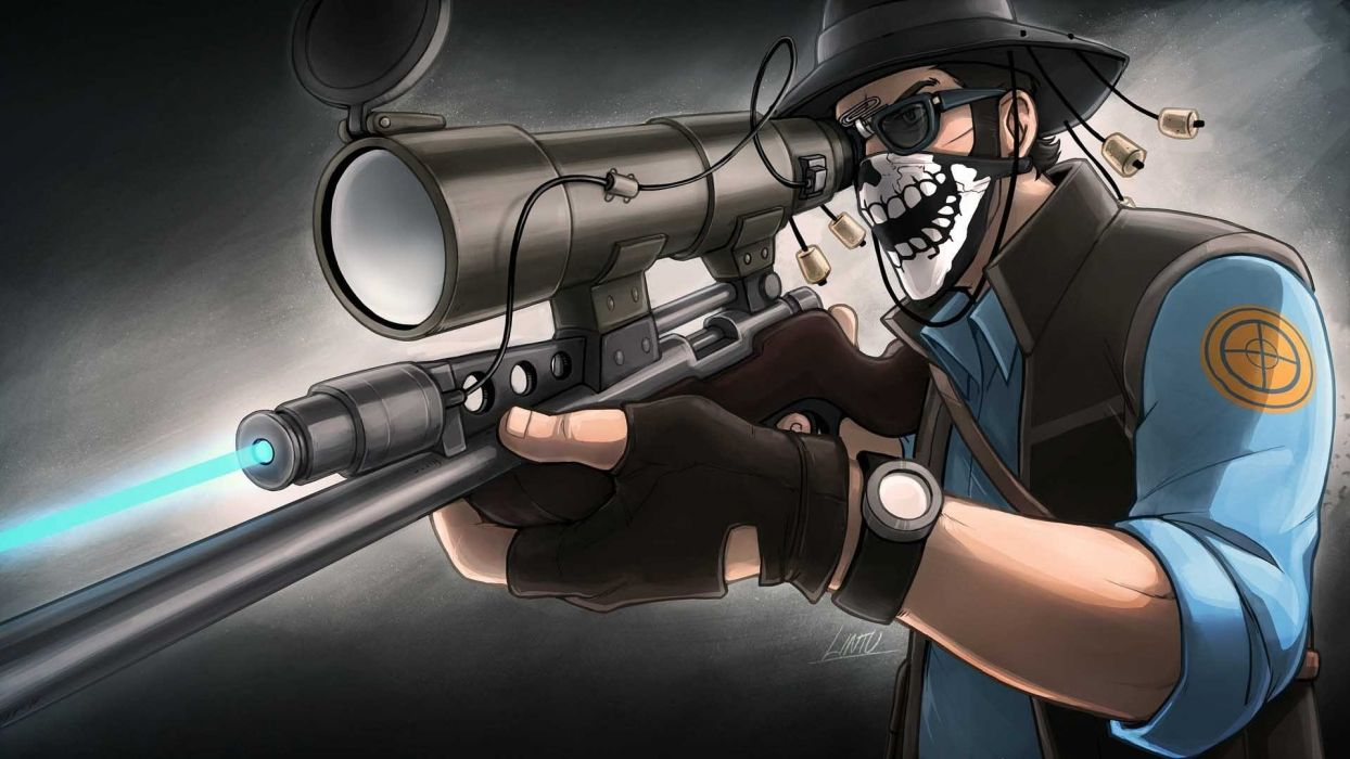 guns weapons Team Fortress 2 Sniper TF2 wallpaper