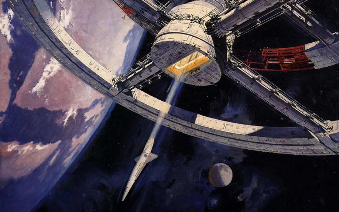 outer space space station 2001: A Space Odyssey science fiction wallpaper
