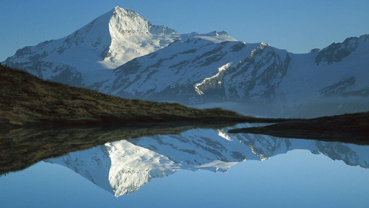 mountains dawn New Zealand wallpaper