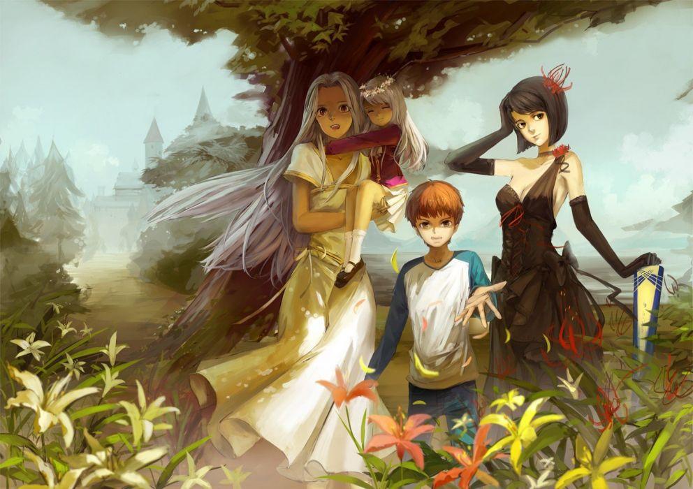 Fate/Stay Night Emiya Shirou anime Irisviel von Einzbern Fate series Illyasviel von Einzbern wallpaper