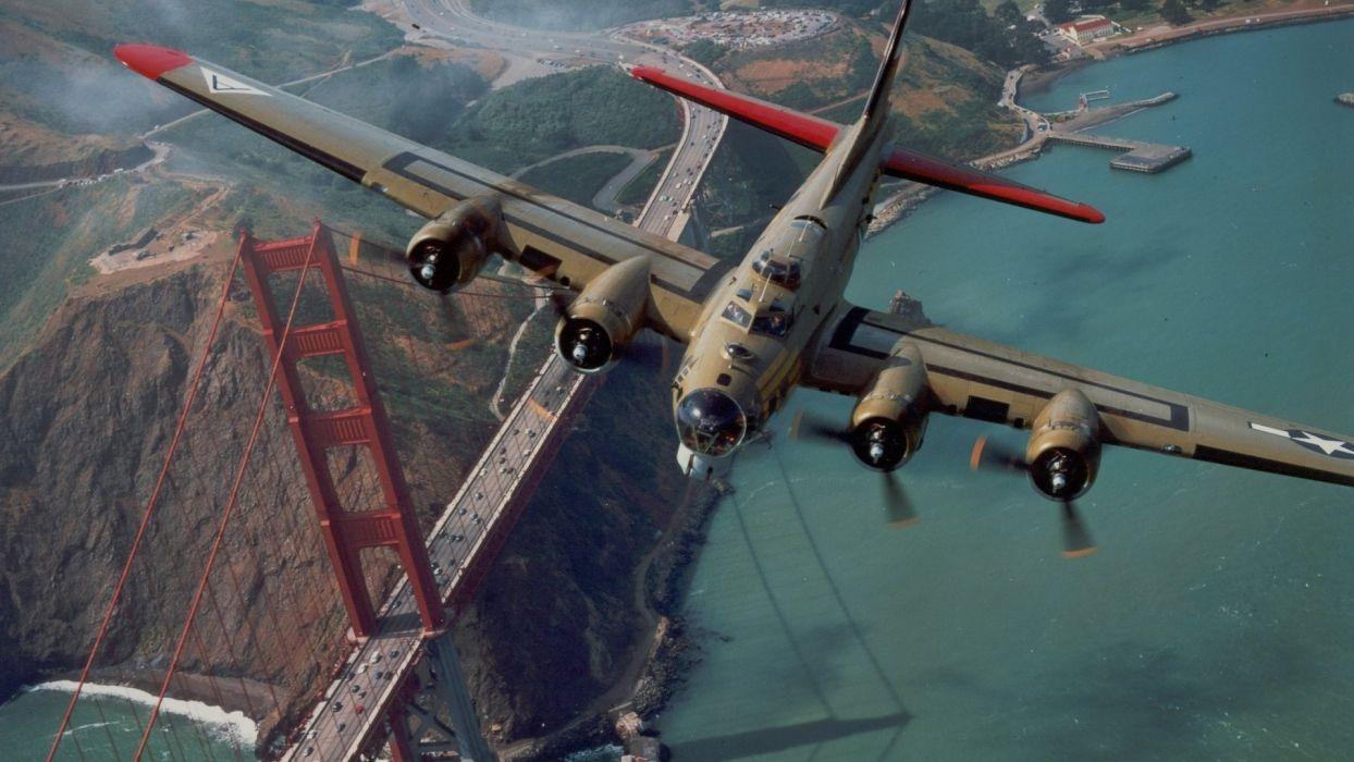 airplanes bridges wallpaper