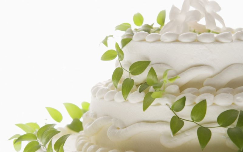 leaves cream white background cakes wallpaper