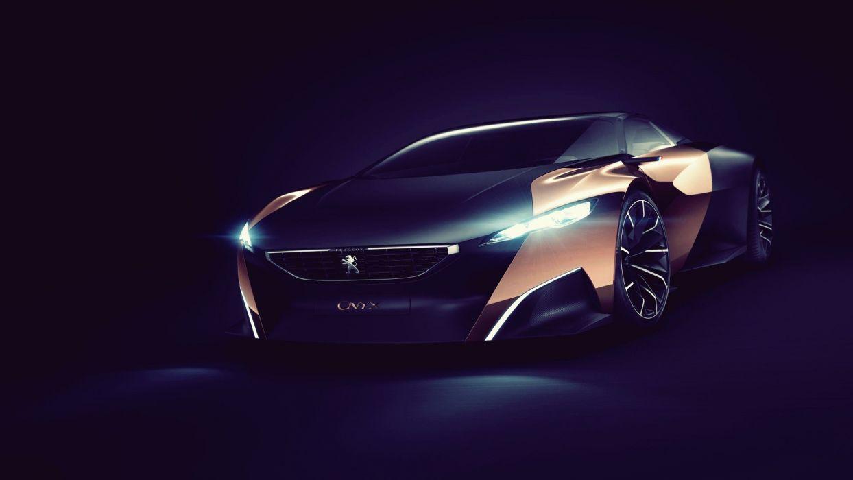 dark cars concept cars Peugeot Onyx wallpaper