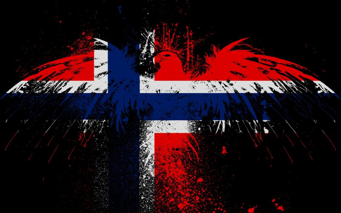 Norwegian eagles Norway flags wallpaper