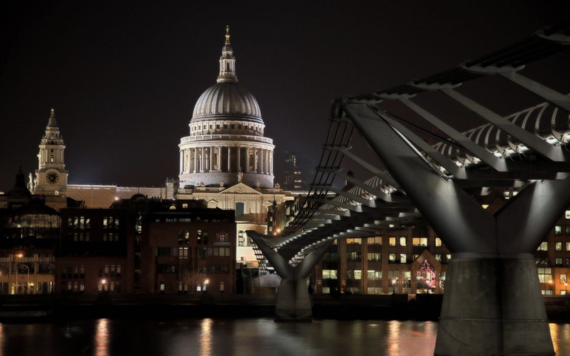 architecture London buildings Millenium Bridge wallpaper