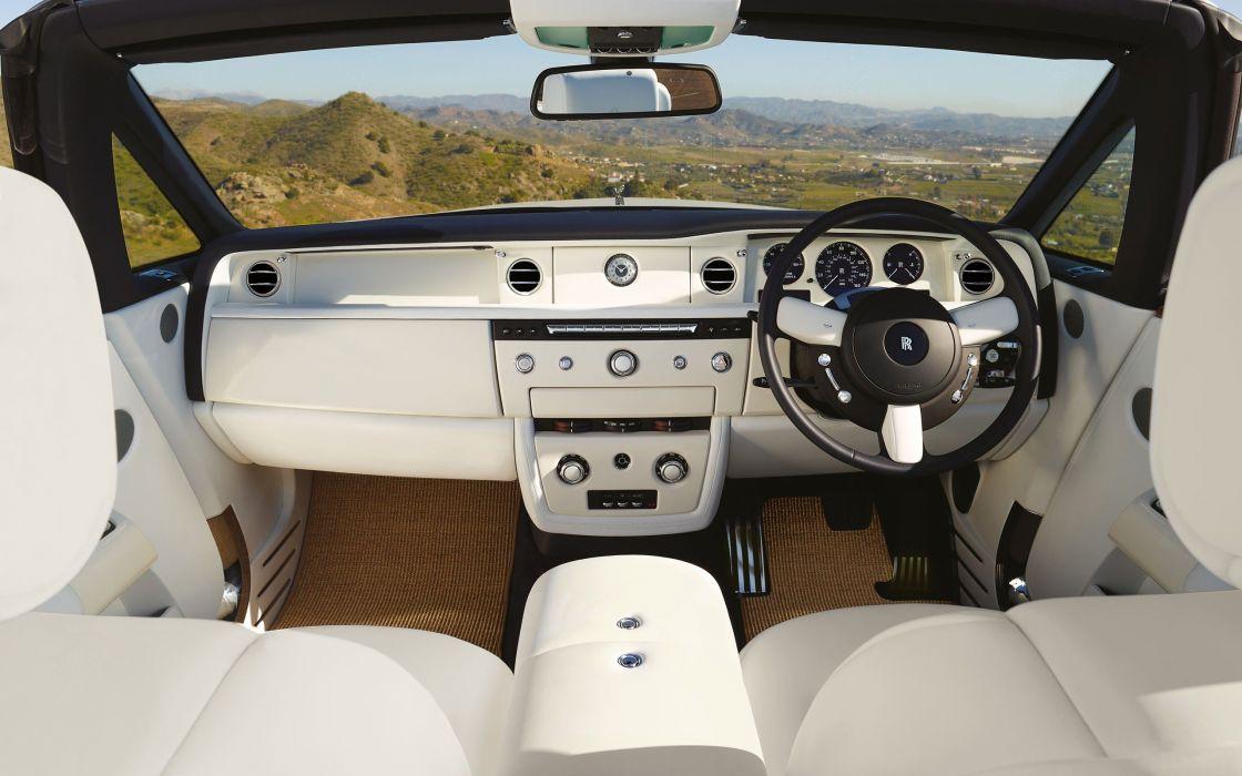 phantom car interiors Rolls Royce Rolls Royce Phantom Drophead wallpaper
