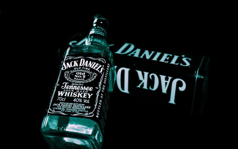 whiskey liquor Jack Daniels black background wallpaper
