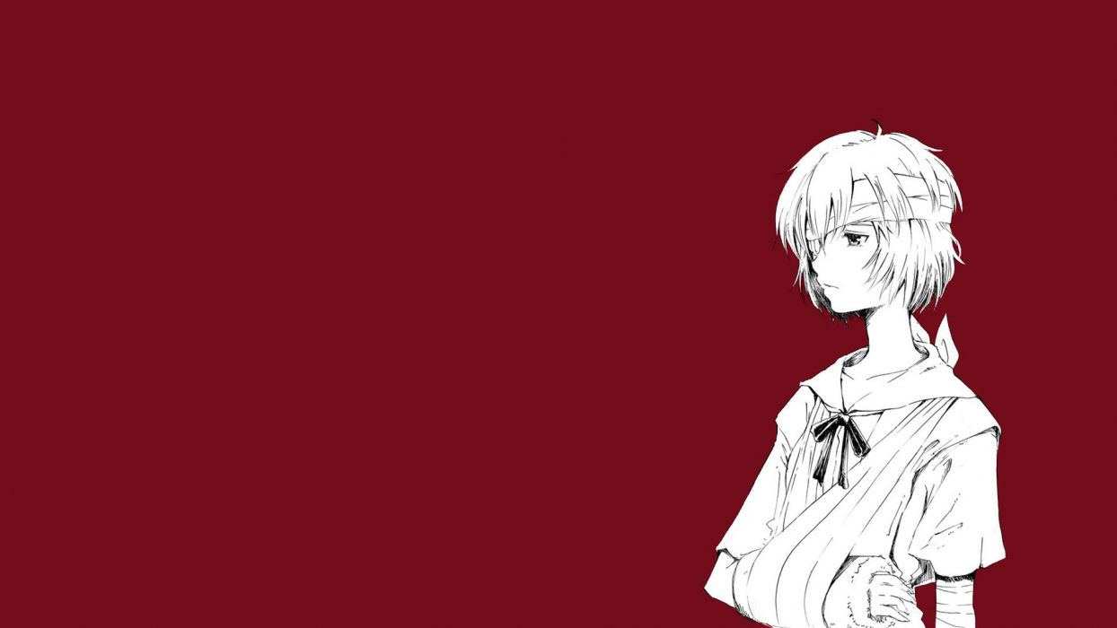 Ayanami Rei Neon Genesis Evangelion simple background wallpaper