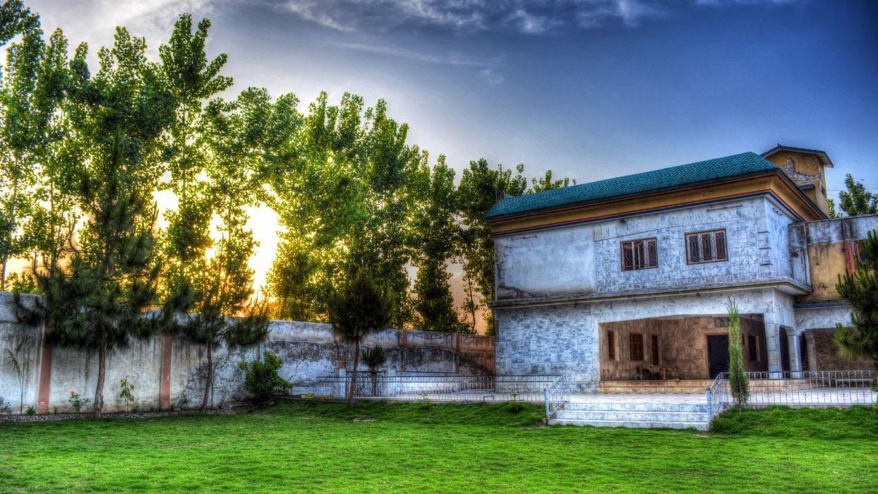 sunset home houses wallpaper
