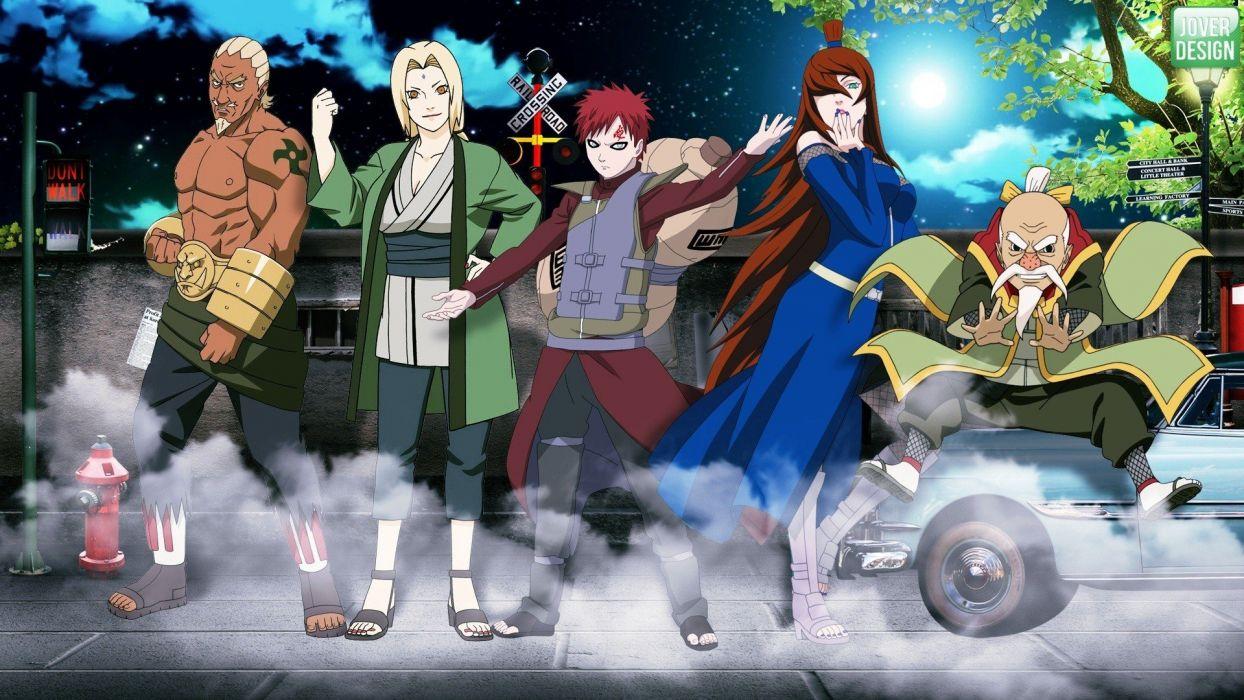 Tsunade Naruto Shippuden Gaara Kazekage Raikage Mizukage