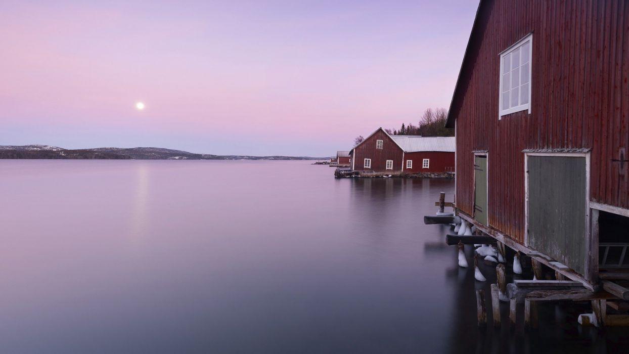 red Sweden wallpaper