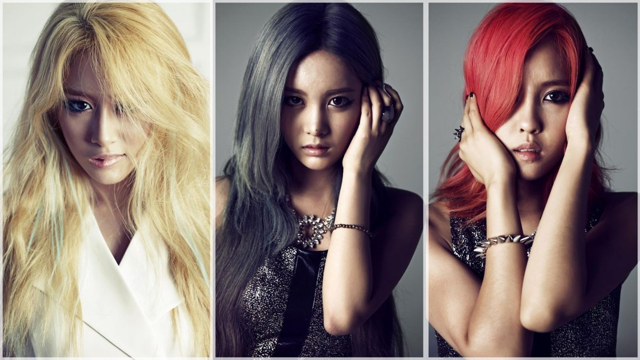 brunettes blondes women music redheads models Asians Korean Korea K-Pop T-ara Qri Park Jiyeon Hyomin South Korea three girls wallpaper