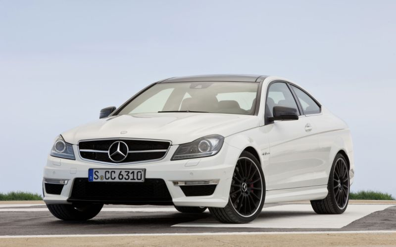 cars vehicles coupe white cars Mercedes-Benz wallpaper