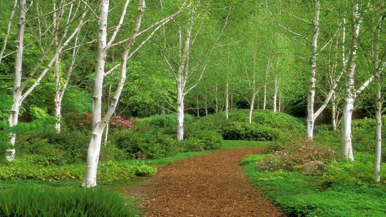 garden paths islands Washington wallpaper