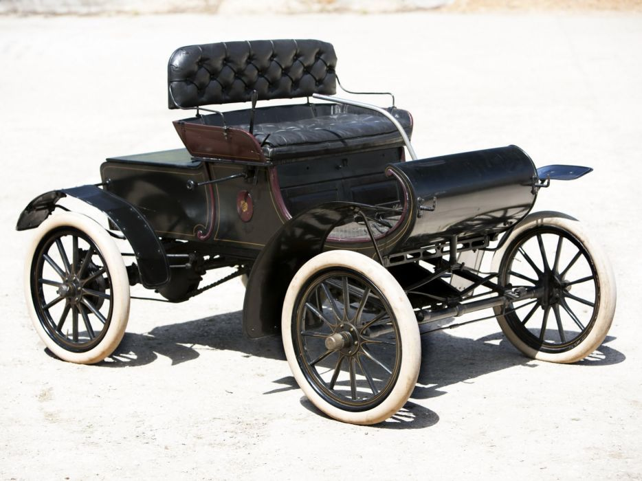 1904 Oldsmobile Model-6C Curved Dash Runabout retro  g wallpaper