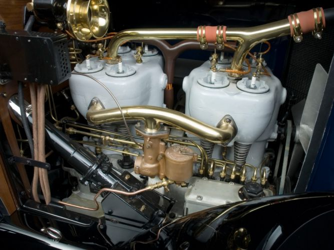 1917 Mercedes Benz 60HP Open Front TownCar luxury retro engine g wallpaper