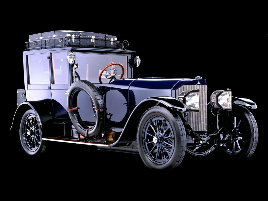 1917 Mercedes Benz 60HP Open Front TownCar luxury retro       h wallpaper
