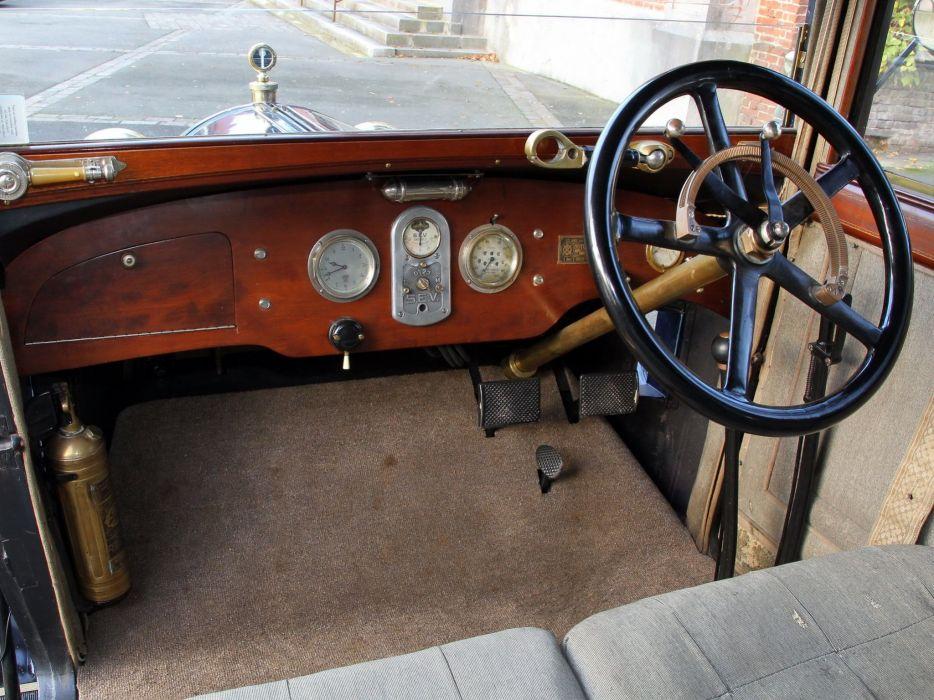 1920 Hotchkiss A-F Limousine retro luxury interior    f wallpaper