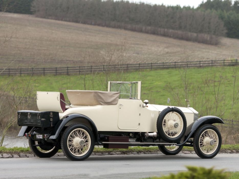 1921 Rolls Royce Silver Ghost Drophead Coupe Windovers (32SG) retro luxury  d wallpaper