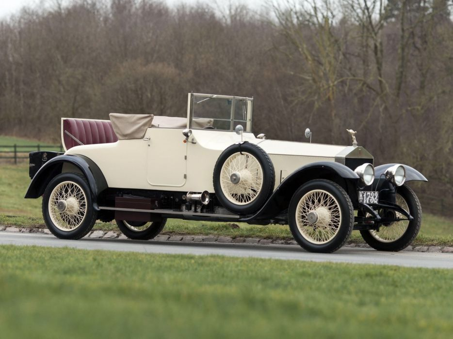 1921 Rolls Royce Silver Ghost Drophead Coupe Windovers (32SG) retro luxury      f wallpaper