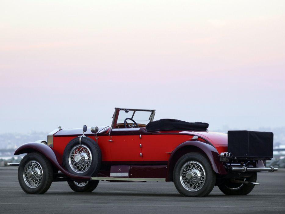 1928 Rolls Royce Phantom I Special Roadster Hibbard Darrin (S297FP-2038) retro luxury  f wallpaper