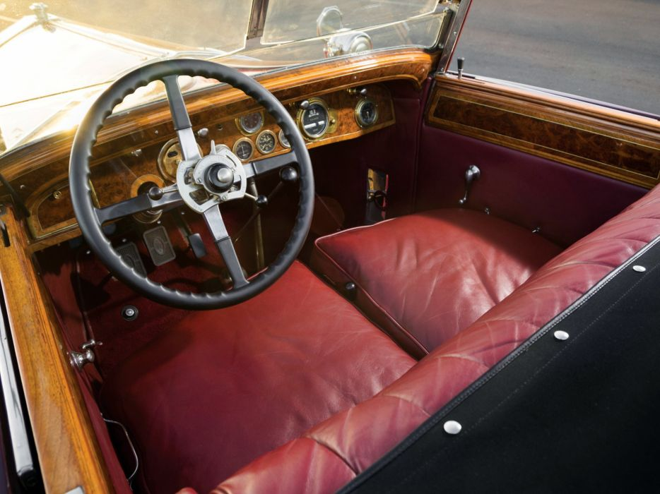 1928 Rolls Royce Phantom I Special Roadster Hibbard Darrin (S297FP-2038) retro luxury interior    g wallpaper