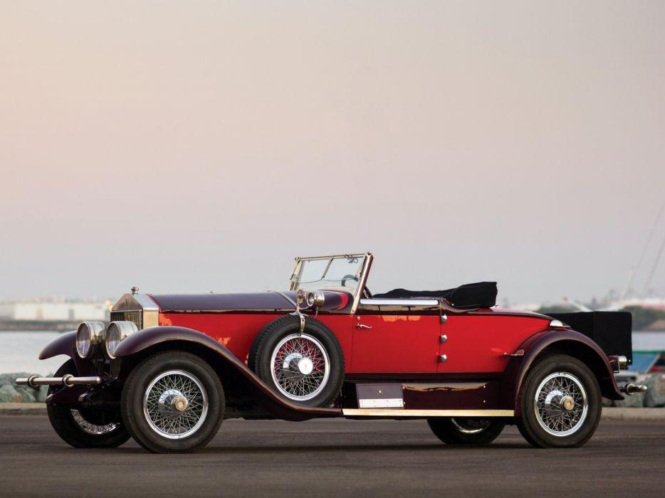 1928 Rolls Royce Phantom I Special Roadster Hibbard Darrin (S297FP-2038) retro luxury   h wallpaper