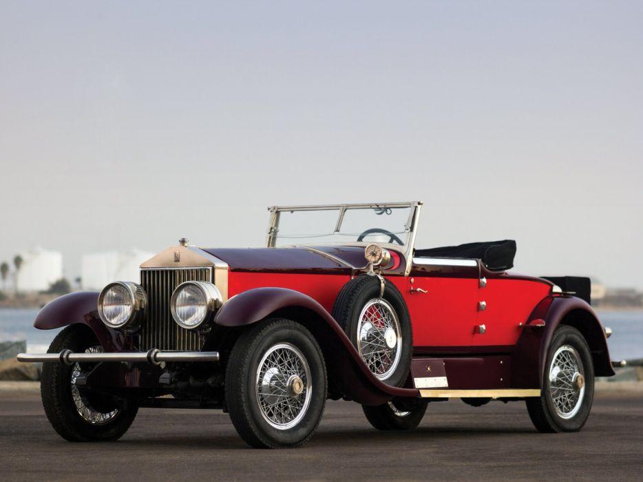 1928 Rolls Royce Phantom I Special Roadster Hibbard Darrin (S297FP-2038) retro luxury    g wallpaper