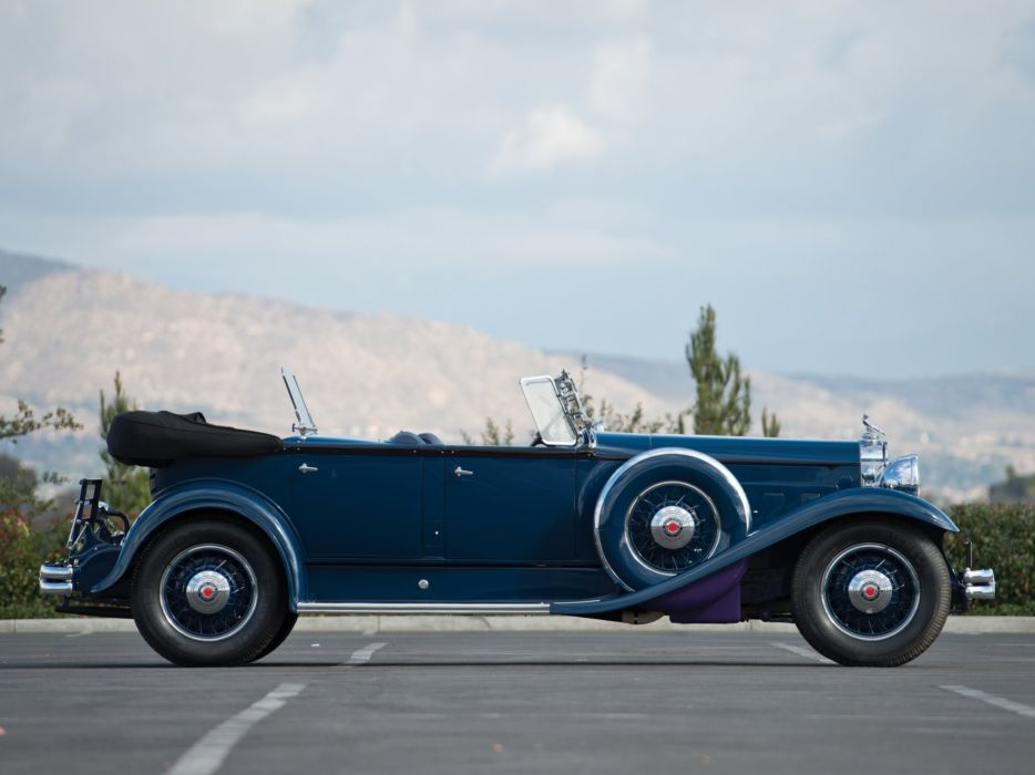 1931 Packard Deluxe Eight Sport Phaeton (840-491) luxury retro       f wallpaper