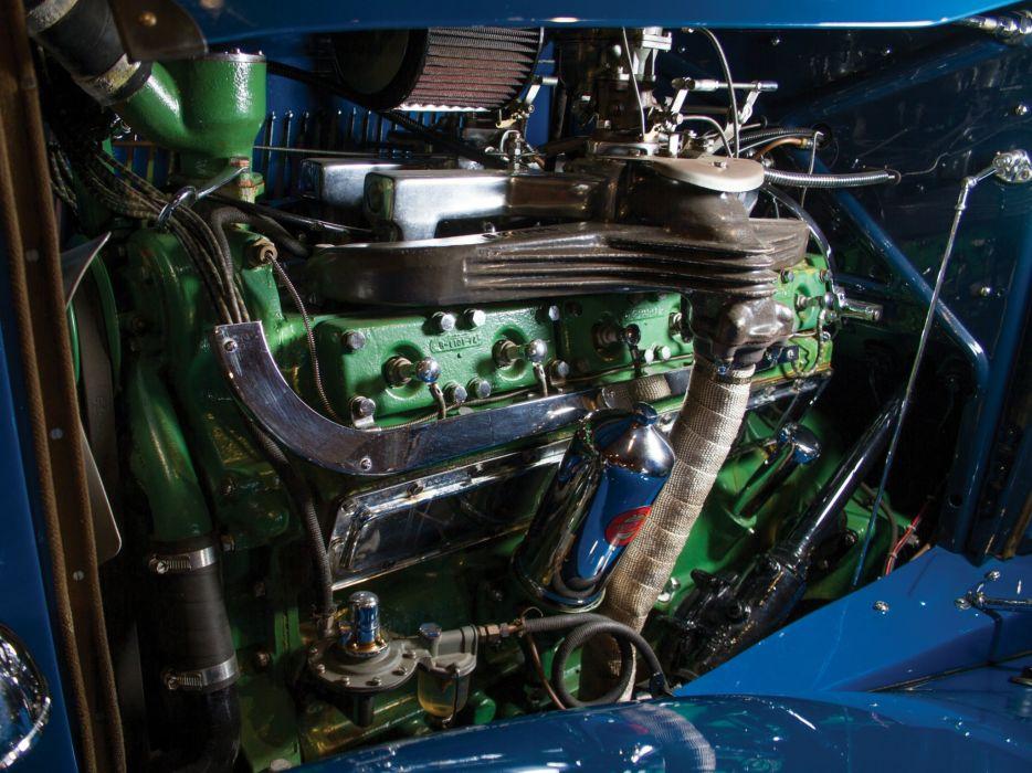 1932 Auburn V12 160A Custom Dual Ratio Phaeton Sedan retro luxury engine  h wallpaper