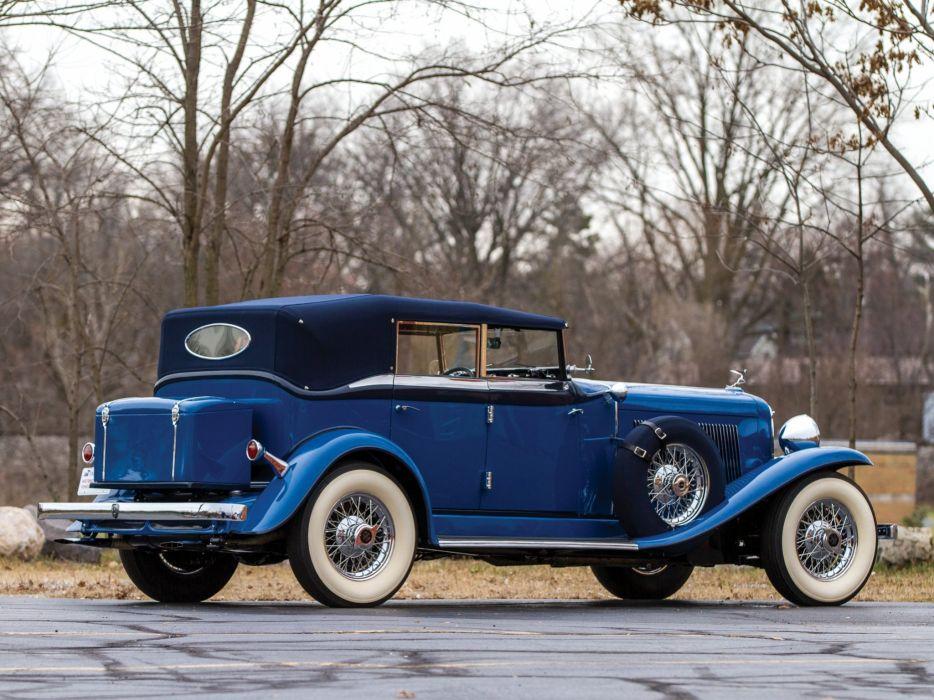 1932 Auburn V12 160A Custom Dual Ratio Phaeton Sedan retro luxury  f wallpaper