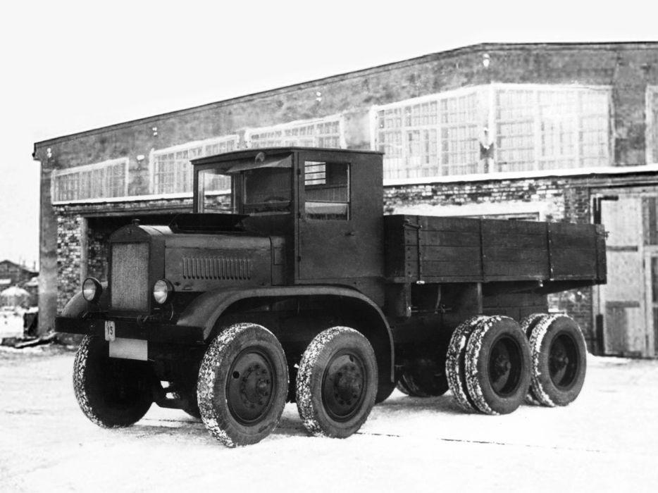 1932 GN-12 Senior semi tractor 8x8 retro offroad pickup     f wallpaper